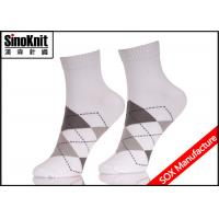 Buy cheap Argyle Ankle White Customized Man Suit Socks Breathable Cotton from wholesalers