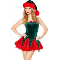 Buy cheap Holiday Funny Christmas Costumes , Toy Maker Sexy Christmas Dress from wholesalers