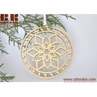 Buy cheap Wooden Christmas ornament woodcut tree decoration Snowflake ornament from wholesalers