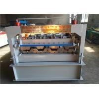 PLC Control Floor Deck Roll Forming Machine , Metal Sheet Forming Machine 12-15m/ Min