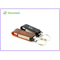 Buy cheap Black / Red / Yellow Leather USB Flash Disk 1GB 2GB High Speed from wholesalers