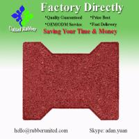 Buy cheap Red Color Bone Shaped Recycled Rubber Tile/Rubber Flooring from wholesalers