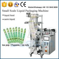 Buy cheap Ice pop filling sealing machine / Popsicle packaging machine / ice-lolly packaging machinery from wholesalers