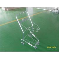 Buy cheap Four Wheeled Shopping Trolley / Shopping Basket Trolley 50KGS capacity from wholesalers