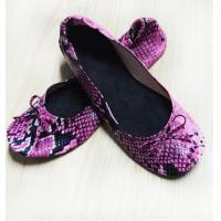 Buy cheap New Different Partens Fake Snake Skin of Fold Up Ballet Flats for Ladies with Compact Carrying Tote Bag from wholesalers