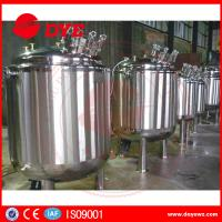Buy cheap Side Three Layers Stainless Steel Jacketed Tanks Liquid Soap Agitator Mixer from wholesalers