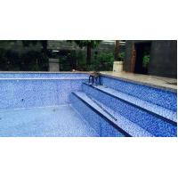 Buy cheap Sheet size: 300x300mm thickness: 4mm glass mosaic for swimming pool tile from wholesalers