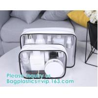 China transparent cylinder zip PVC tube bag with hang hook for storage underwear portable PVC, Tube Cylindrical PVC packing Ba on sale