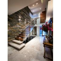 Buy cheap Straight staircase with solid wood tread customized size for compound building product