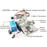 Buy cheap Mach3 Wireless MPG 3D CNC Router , 800w Water Cooled Spindle 4 Axis CNC 3040 Router from wholesalers