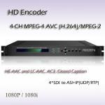 Buy cheap MPEG-2/H.264 HD Encoder 4*HD/SD_SDI Input 4*SPTS ip output Digital TV SDI Encoder from wholesalers