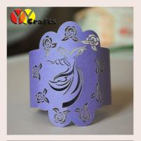 Buy cheap Purple dancing girl Wedding Napkin Rings table towel paper napkin wrappers from wholesalers