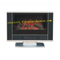 Buy cheap Indoor 600 X 140 X 510 mm Free Standing Electric Fireplace Black Color from wholesalers