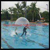 Buy cheap tpu transparent inflatable big water ball 2.5M diameter cheapest sale in China from wholesalers