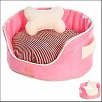 Buy cheap pink princess dog bed with bone pillow from wholesalers