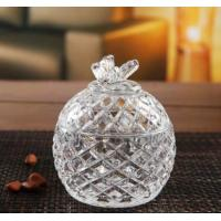 Buy cheap Round Clear Sugar Pot Glass Candy Jar House Glassware Decoration Gift from wholesalers