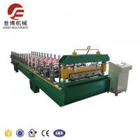 Buy cheap Trapezoide Rib Roofing Sheet Roll Forming Machine With Cr 12 Mov Blade from wholesalers