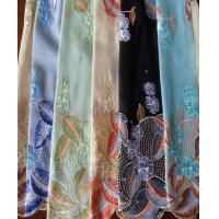 Buy cheap Polyester Printed Voile Fabric Scarf Embroidered Voile Scarf from wholesalers