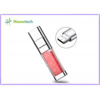 Buy cheap Transparent crystal red decoration screen novelty flash drives Promotional gift product