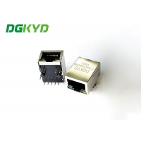 Buy cheap Single Port TAB UP RJ45 Modular Jack For Printed Circuit Board from wholesalers