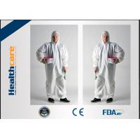Buy cheap Dust Proof Disposable Protective Gowns Work Clothes For Hospital / Chemicals / Industry from wholesalers
