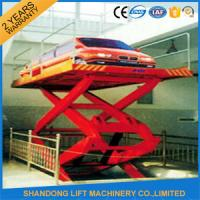 Buy cheap 5M 3T Basement Hydraulic Scissor Car Lift  Hydraulic Car Lift for 2 Floor Level from wholesalers