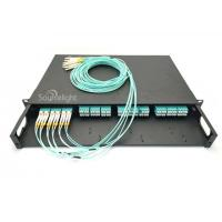Buy cheap Ftth Mpo Mtp Patch Cord , Mpo Mtp Cassette With Om3 Lc Duplex Adapter from wholesalers
