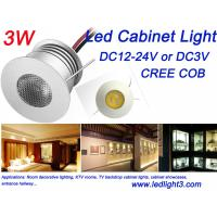 Buy cheap Mini 3W Led Cabinet Light Indoor Showcase KTV Rooms lighting DC12V CREE COB Led Lamp from wholesalers