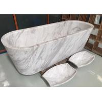 Buy cheap Polished Treatment Luxury Natural Stone Bathtub Marble Material Freestanding Type from wholesalers