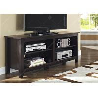 Buy cheap Tv Console Table With Adjustable Shelving , Dark Wood Tv Cabinet 16 X 58 X 24 Inches from wholesalers