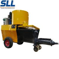 Buy cheap Automatic Exterior Wall Plastering Machine Cement Rendering Machine In Yellow product