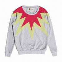 Buy cheap Women's Embroidered Pullover Sweatshirt, Made of 35% Cotton, 60% Poly and 5% Spandex, Long Sleeves from wholesalers