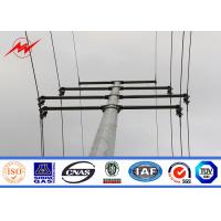 Pole Overhead Line Structures : Lattice tubular steel pole traffic light for