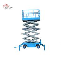 Buy cheap Vertical Electric Mobile Scissor Lift / Scaffolding Aerial Lift Work Platform product