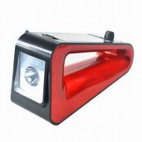 Buy cheap Hand Cranking Flashlight with Solar Panel and Radio from wholesalers