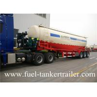 Buy cheap Three Silos Dry Powder Bulk Cement Tanker Semi Truck Trailer Standard 28 Ton from wholesalers