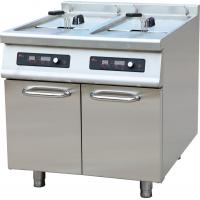 Buy cheap Professional Twin Tank Gas Fryer , Electric Kitchen Range Double Tank from wholesalers