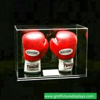 Buy cheap Clear Acrylic Lucite Boxing Glove Display Case, Perspex Boxing Glove Show Box with Lid from wholesalers