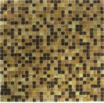 Buy cheap fireplace backsplash tile aluminum mix glass mosaic tile 10LAR050 from wholesalers