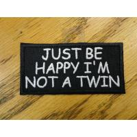 Buy cheap Just be happy Funny Saying Vest Patch Motorcycle Biker Patch Club Patch from wholesalers