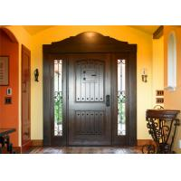 Buy cheap Magahongany Front Main Solid Wood Replacement Doors Finished Surface Treatment from wholesalers