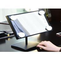 Buy cheap small tabletop LED Mirror Lights / portable folding square mirror with light bulbs around it from wholesalers