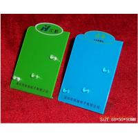 Buy cheap Green / Blue Portable Acrylic Brochure Display Stands For Shopping Malls from wholesalers