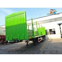 Buy cheap Mechanical Suspension 4 Axles 60T Storage Semi Trailer from wholesalers