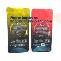 Buy cheap 250g Heat Seal Side Gusset Yellow Coffee Pouches Bags With Valve Matte Coating Foil Flat Bottom Pouches Coffee 100g, Box from wholesalers