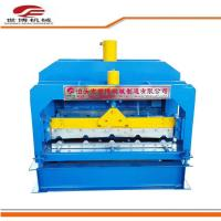Buy cheap Roof Tile Trapezoidal Sheet Roll Forming Machine With Hydraulic Cutter 1 Year Warranty from wholesalers