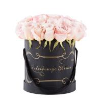 Buy cheap Colorful Customized Luxury Packaging Boxes Round Flower Hat Box With Handle from wholesalers