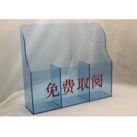 Quality Hotel / Restaurant Acrylic Menu  Holder Display Stand For Menu Card for sale