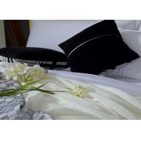 Buy cheap 100 Percent Cotton Luxury Hotel Bedding Sets White Sateen Bed Linen from wholesalers