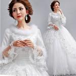 Buy cheap Plush Velvet Collar Crystal Diamond Wedding Dresses for Ladies , Womens , Girls from wholesalers